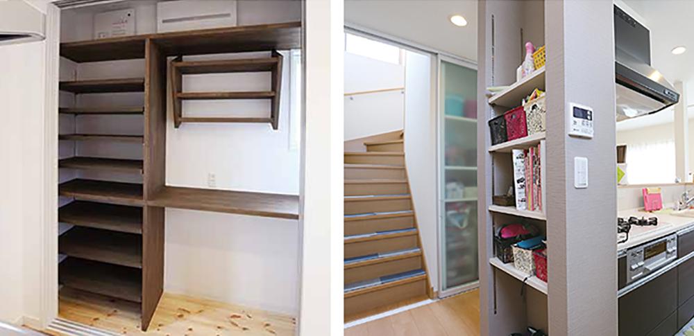 キッチン収納は大容量が便利。「ごみ箱」の場所がポイント