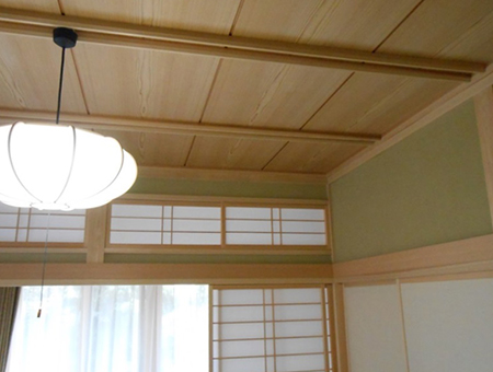 青木邸の天井